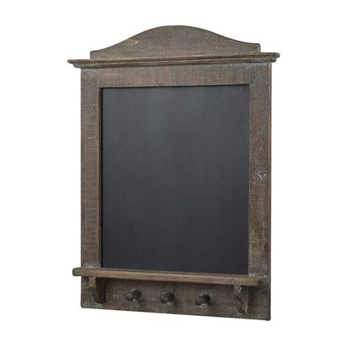 Old English Wood 25-Inch Blackboard with Coat Hook