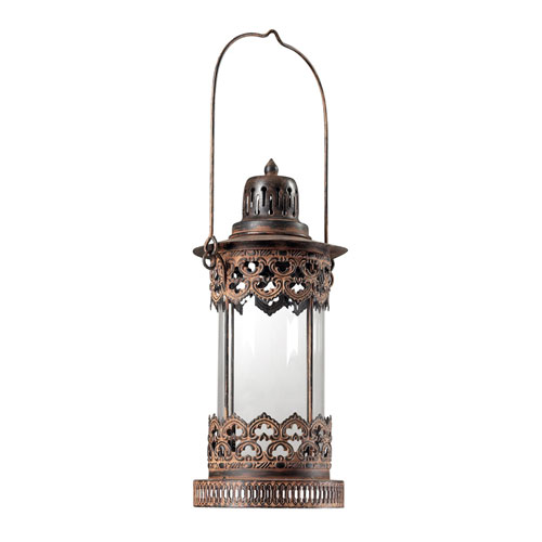 Sterling Industries Neves Metal Round Candle Lantern