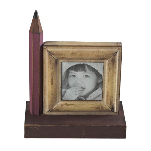 Bassit Yellow, Pink Pencil Picture Frame