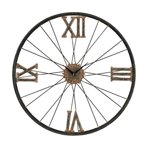 Sterling Industries Iron Rust and Bronze 24-Inch Wall Clock