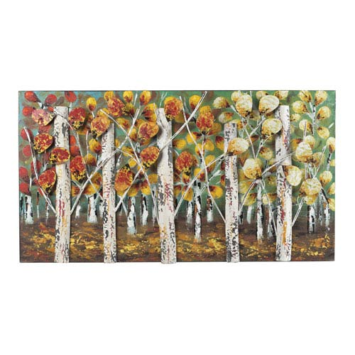 Sterling Industries Autumn birch Distressed White 20-Inch Wall Art