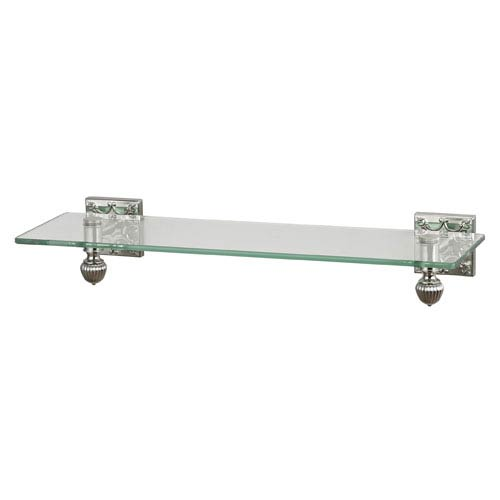 Dowling Brused Steel Glass Shelf with Embossed Back Plates