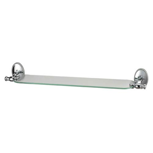 Sterling Industries Bancroft Chrome Glass Shelf with Back Plate