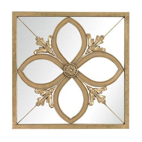 Sterling Industries Albern Gold Leaf 20-Inch Square Mirror