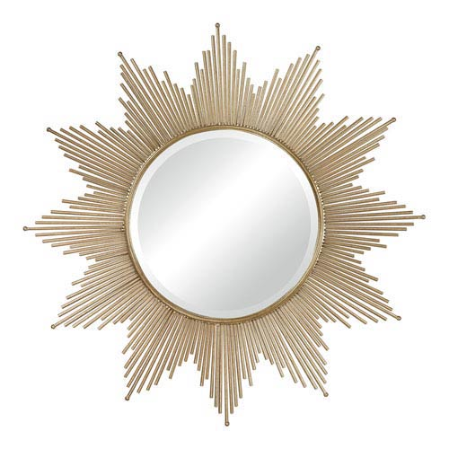 Sterling Industries Gold Leaf 41-Inch Round Mirror