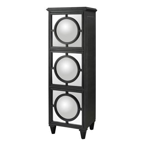 Sterling Industries Black 64-Inch Convex Mirror Shelf