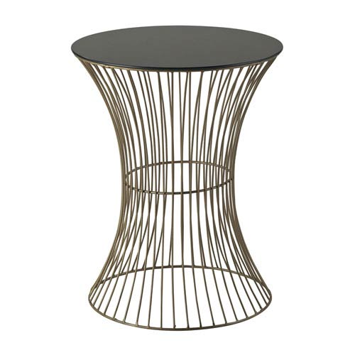 Sterling Industries Thurcott Gold and Black 20-Inch End Table