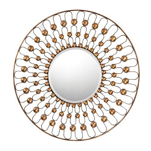 Sterling Industries Antebellum Bronze 36-Inch Round Mirror