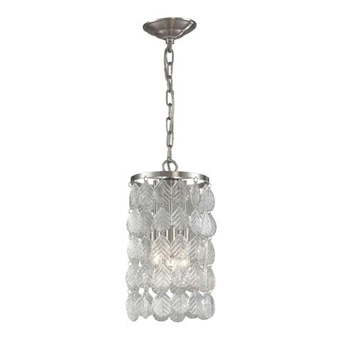 Drayton Clear Glass 14-Inch Three Light Lantern Pendant