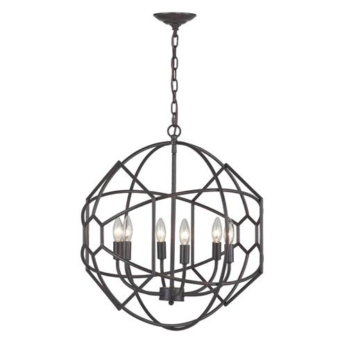 Sterling Industries Aged Bronze 23-Inch Six Light Chandelier