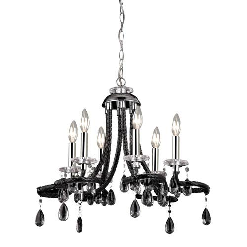 Sterling Industries Chrome 18-Inch Six Light Mini Chandelier