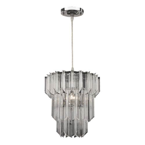 Sterling Industries Ice Crystal, Acrylic and Chrome 18-Inch One Light Pendant