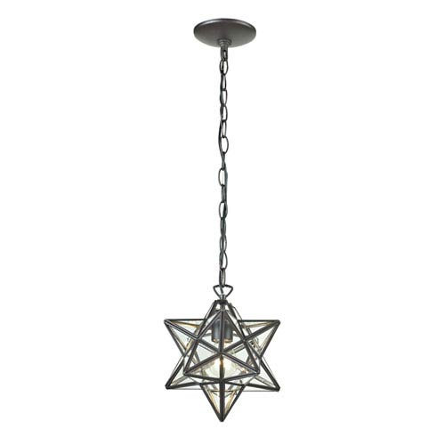 Star Clear One Light 12-Inch One Light Lantern Pendant
