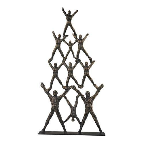 Bronze 20-Inch Troupe Statuary
