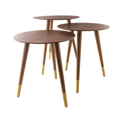 Sterling Industries Jetset Walnut Veneer Accent Table