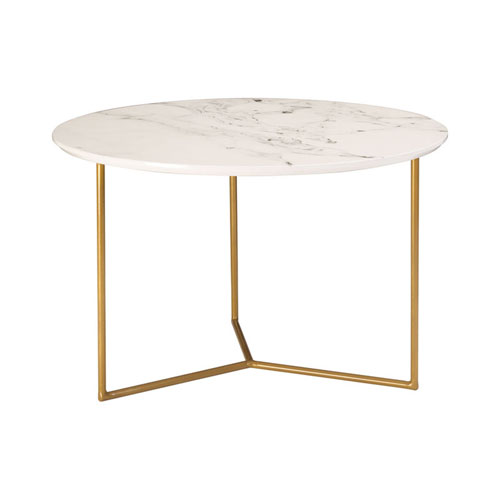 Sterling Industries Glacier Gold And White Printed Marble Accent