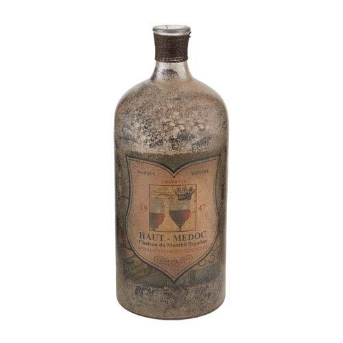 Aged Mercury 12-Inch Tall Glass Bottle