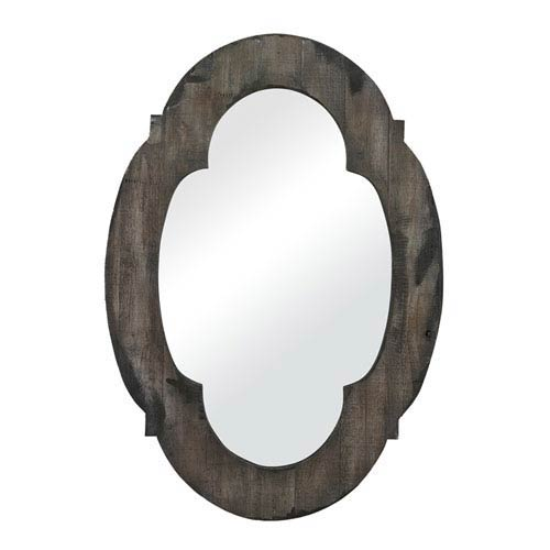 Sterling Industries Grantham Grey 28-Inch Wood Framed Arched and Crowned Mirror
