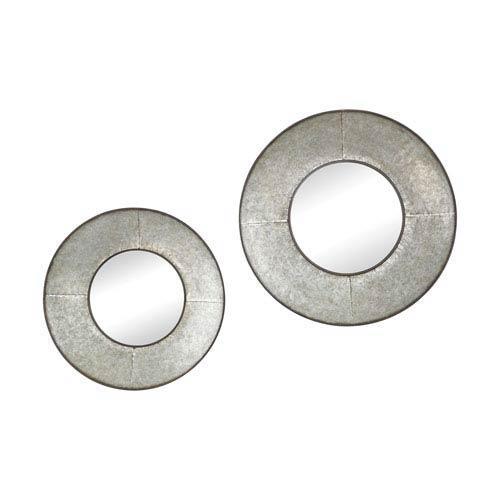 Set of 2 Choptank Oxidized Aluminum Mirrors