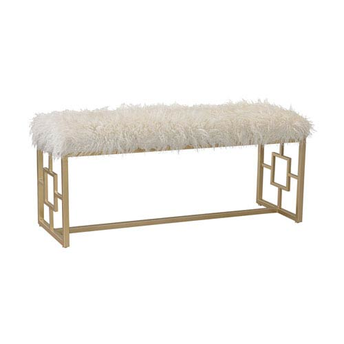 Betty Retro White Double Bench