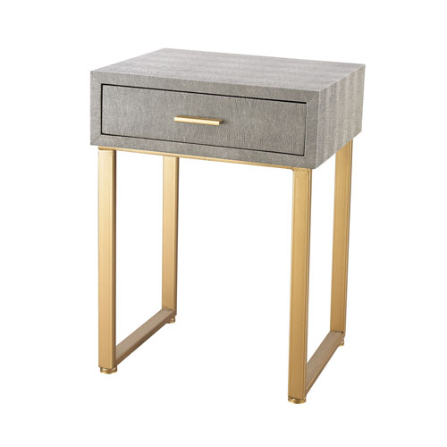 Beaufort Gold Grey Accent Table