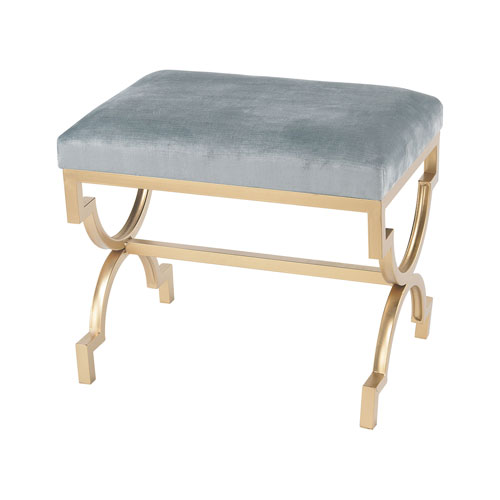 Comtesse Gold Duck Egg Blue Bench