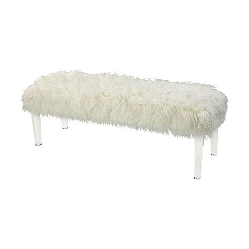 Sterling Industries Zsa Zsa White 54-Inch Bench