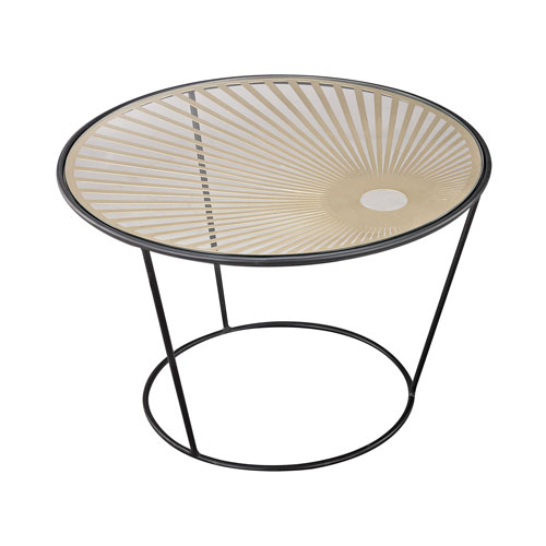 Sterling Industries City Hall Gold Black Accent Table
