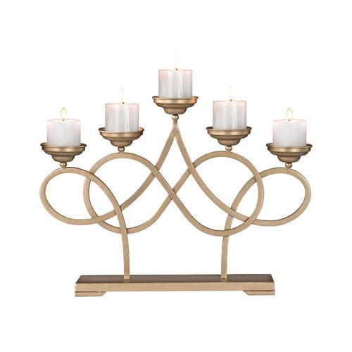 Sterling Industries Internationale Soft Gold Candle Holder