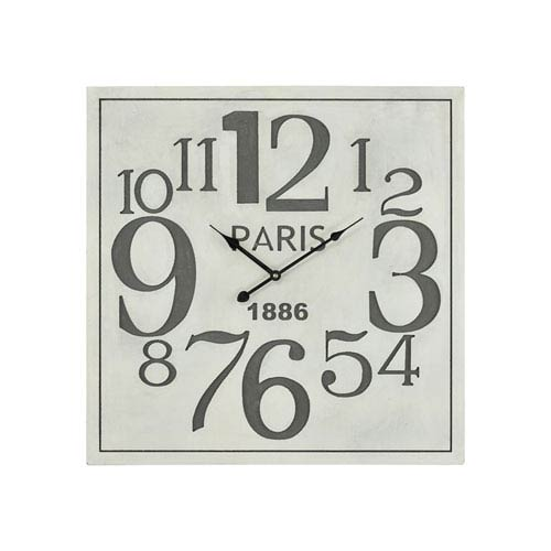 Sterling Industries Quai Voltaire Aged White and Grey Wall Clock