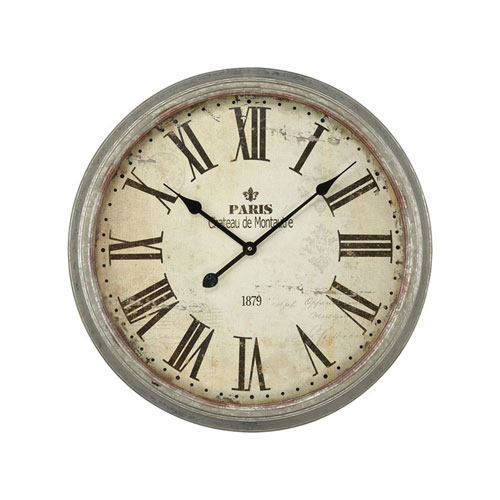 Chateau de Montautre Salvaged Metal Wall Clock