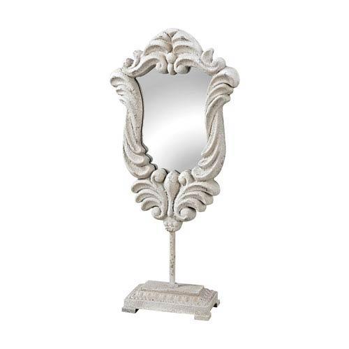 Jardin Chalk White Decorative Mirror Stand
