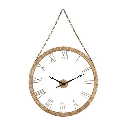 Geri Gold Leaf Wall Clock