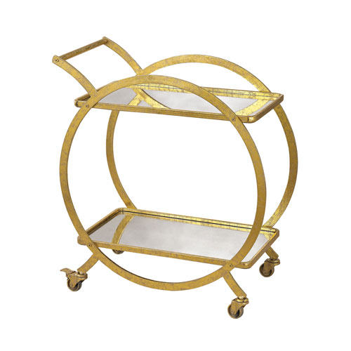 Sterling Industries Gold Ring Bar Cart