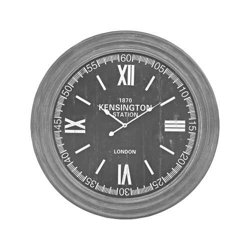 London Preda Aged Grey Wall Clock