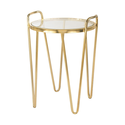 Via Rodeo Gold Accent Table