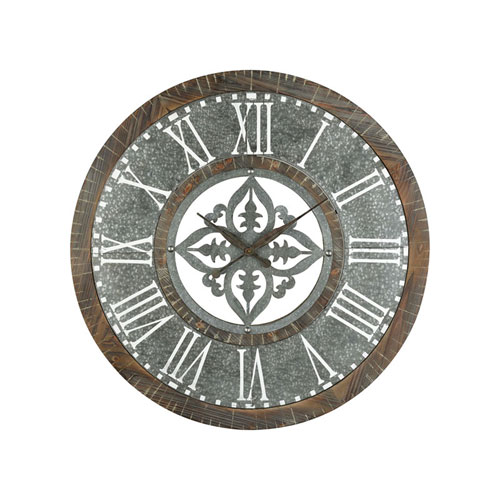 Greystone Silver Wall Clock