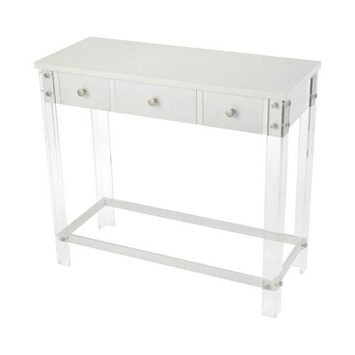 Sterling Industries Kamchatka White 3-Drawer Console