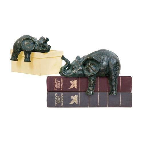 Sprawling Elephants, Set of Two
