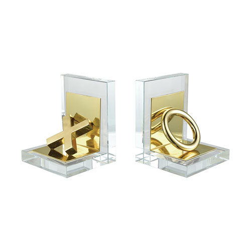 Sterling Industries Vanquish Gold Bookends - Set of 2