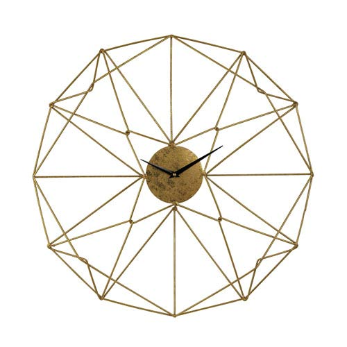 Sterling Industries Angular Gold Wirework Wall Clock