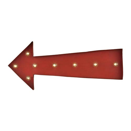 Antique Red Arrow Marquee Sign