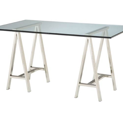Polished Nickel Architects Table Base Only