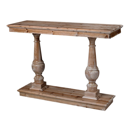 Spring Creek Rattan Wood 34-Inch Console Table