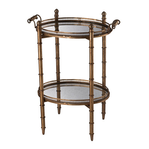 Gold 32-Inch Tray Table