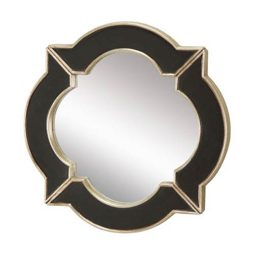 Sterling Industries Lilliput Black 16-Inch Arched and Crowned Mirror