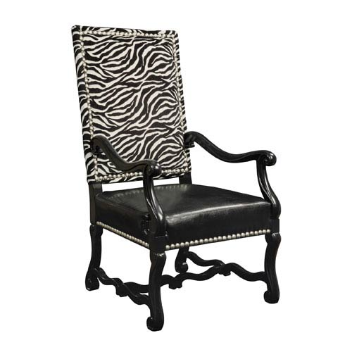 Sterling Industries Wallace Plantation Grown Hardwoods and Imported Fabric Chair