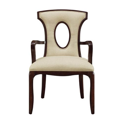 Sterling Industries Blakemore Plantation Grown Hardwoods and Imported Fabric Arm Chair