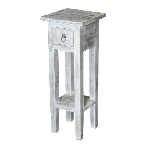 Natural 26.8-Inch End Table