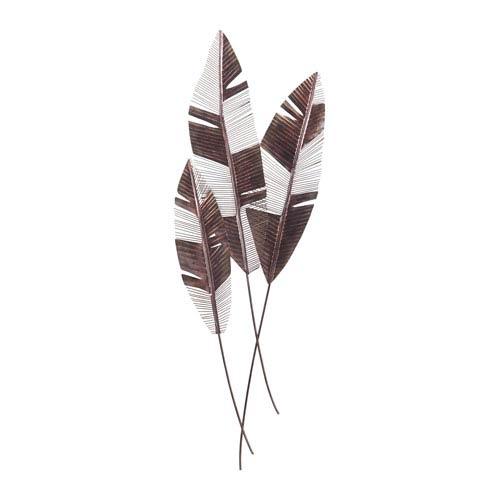 Martinique Bronze Leaf Wall Fan, Set of Three